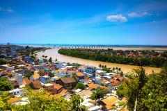 Opinión de la ciudad de Tuyhoa desde arriba fotografía de archivo