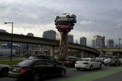 Opinión de la ciudad de Vancouver Fotografía de archivo
