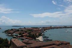 Opinión de la ciudad de Venecia Imágenes de archivo libres de regalías