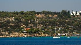 Opinión de la ciudad del mar Mediterráneo metrajes