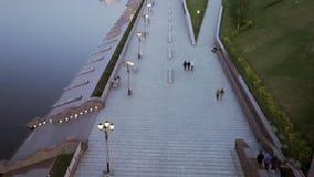 Opinión de la ciudad del río almacen de metraje de vídeo