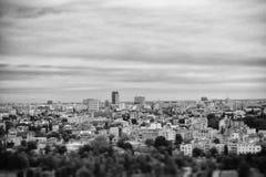 Opinión de la ciudad del top Fotos de archivo libres de regalías