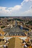Opinión de la Ciudad del Vaticano Imagen de archivo libre de regalías