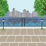 Opinión de la ciudad en el parque de Publice Fotos de archivo libres de regalías