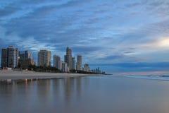 Opinión de la ciudad en Gold Coast Foto de archivo