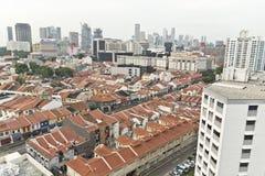 Opinión de la ciudad en la poca India en Singapur Fotografía de archivo libre de regalías