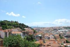 Opinión de la ciudad en Lisboa, Portugal Imagenes de archivo