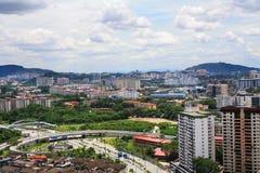 Opinión de la ciudad en Malasia, Kuala Lumpur Fotos de archivo