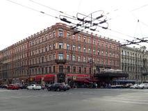 Opinión de la ciudad de la ciudad europea St Petersburg, Rusia Imagen de archivo libre de regalías