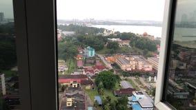 Opinión de la ciudad de Johor Bahru almacen de video