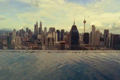 Opinión de la ciudad de Kuala Lumpur Foto de archivo libre de regalías