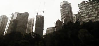 Opinión de la ciudad, Kuala Lumpur, Malasia Foto de archivo libre de regalías