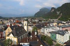 Opinión de la ciudad de Kufstein, el Tyrol, Austria Fotos de archivo
