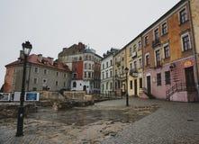 Opinión de la ciudad de Lublin fotografía de archivo