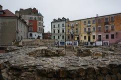 Opinión de la ciudad de Lublin imágenes de archivo libres de regalías