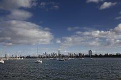 Opinión de la ciudad de Melbourne de St Kilda fotos de archivo libres de regalías