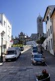 Opinión de la ciudad de Mirandela foto de archivo