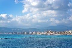 Opinión de la ciudad de Palma en sol del invierno Fotografía de archivo libre de regalías