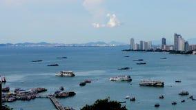 Opinión de la ciudad de Pattaya tailandia Propiedad horizontal de Pattaya Naklua Pattaya - Naklua fotografía de archivo libre de regalías