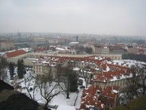 Opinión de la ciudad de Praga del castillo fotografía de archivo libre de regalías