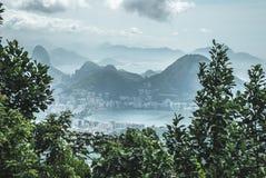Opinión de la ciudad de Rio de Janeiro fotos de archivo
