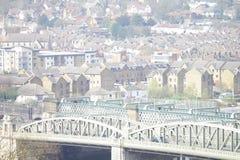 Opinión de la ciudad de Rochester del castillo Foto de archivo
