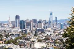 Opinión de la ciudad de San Francisco Foto de archivo