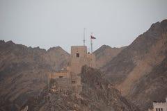 Opinión de la colina de Omán Fotografía de archivo