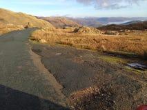 Opinión de la colina del distrito del lago Fotos de archivo