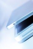 Opinión de la computadora portátil Fotografía de archivo libre de regalías