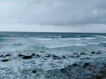 Opinión de la costa con el cielo en Alexandría imágenes de archivo libres de regalías