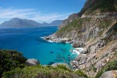 Opinión de la costa costa de Ciudad del Cabo Imágenes de archivo libres de regalías