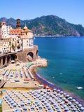 Opinión de la costa de Amalfi Imagen de archivo