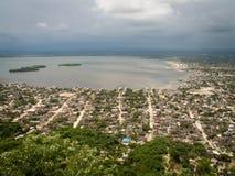 Opinión de la costa de Cartagena Fotos de archivo