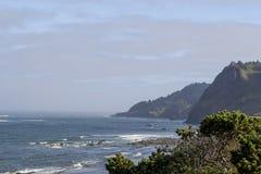 Opinión de la costa de Oregon Fotos de archivo