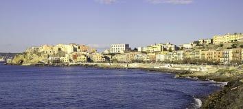 Opinión de la costa de Pozzuoli Fotografía de archivo libre de regalías