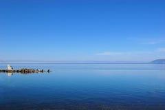 Opinión de la costa del lago Baikal, Siberia, Rusia Imagenes de archivo