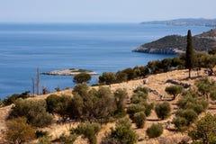Opinión de la costa - isla de Zakynthos Foto de archivo libre de regalías