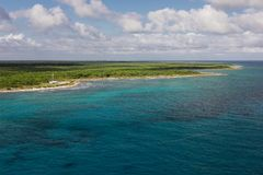 Opinión de la costa de Costa Maya Fotos de archivo