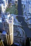 Opinión de la cubierta del cielo de Chicago Foto de archivo libre de regalías