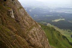 Opinión de la cumbre del Mt Pilatus Fotografía de archivo