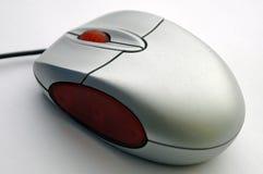 Opinión de la diagonal del ratón del ordenador Foto de archivo
