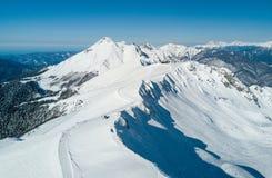 Opinión de la estación de esquí de Rosa Khutor Imágenes de archivo libres de regalías