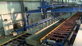 Opinión de la fábrica del panel de bocadillo almacen de metraje de vídeo