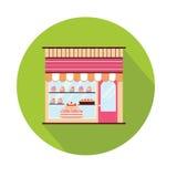 Opinión de la fachada de la panadería Imágenes de archivo libres de regalías