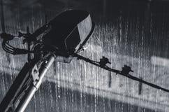 Opinión de la farola sobre la lluvia Fotografía de archivo libre de regalías