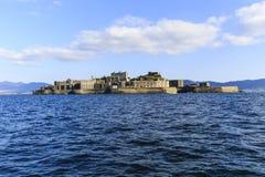 Opinión de la fuente de la isla del acorazado Imagen de archivo libre de regalías