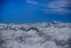 Opinión de la gama de Himalaya el monte Everest del vuelo Paro Bhután al Kat fotografía de archivo libre de regalías