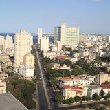Opinión de La Habana de un edificio alto (vi) Fotos de archivo libres de regalías