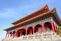 Opinión de la hormiga del templo chino en Tailandia Este lugar es el más grande de la ciudad de Bangbuathong Fotografía de archivo